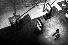 De haut, sous la lumire (krystinemoessner) Tags: street bw monochrome de scene nb bn sw streetphoto rue reims krystine taek reflectyourworld streetpassionaward moessner