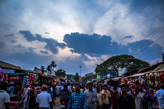 Streets of Srisailam, Andhrapradesh (Aditya Chandra) Tags: street blue sky people india canon wide perspective streetphotography divine hdr andhrapradesh srisailam kurnool 1200d