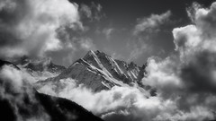 Alps ...view from Ravoire. Valais. Switzerland . (Is_Anybody_Out_There...?) Tags: winter bw mountain snow alps monochrome clouds montagne alpes landscape schweiz switzerland blackwhite nikon suisse nikkor nuage paysage blanc wallis valais noirblanc d800 isanybodyoutthere nikkor70200