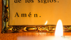 Amn (Miki de Santiago Photography) Tags: light hot detail macro canon religious candle religion amen mystic