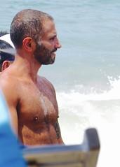 IMG_1160 (danimaniacs) Tags: shirtless hairy man hot sexy guy beach pecs beard stud scruff