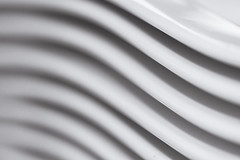 New wave [Explored] (Kate H2011) Tags: white abstract monochrome lines closeup pattern shadows curves indoor stack depthoffield explore plates hmm 2016 ef100mmf28macrousm explored macromondays katehighley beginswiththeletterp