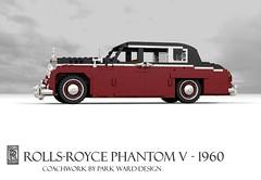 Rolls-Royce Phantom V - 1960 (lego911) Tags: auto classic car model lego 5 render rollsroyce v rolls motor 1960s phantom saloon luxury limousine v8 royce cad 1960 povray moc ldd miniland lego911