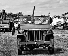 Oversexed, Overpaid and Over Here (f0rbe5) Tags: uk blackandwhite bw monochrome plane jeep display aircraft airplanes bedfordshire saying aeroplane parade v shuttleworth willys fordmodelt apu airfield browning aerodrome flightline 2015 biplanes hmg shuttleworthcollection heavymachinegun vforvictory selfpropelled oldwarden canonef100400mmf4556lisusm willysjeep auxiliarypowerunit hucksstarter canoneos5dmarkiii oversexedoverpaidandoverhere browningheavymachinegun jkl225 mp8433 050inch 050cal selfpropelledapu