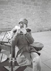 Modern Life (bigalid) Tags: bw phonecam kodak smartphone northumbria april kodakbw400cn 2016 bw400cn c41 olympuspenee2