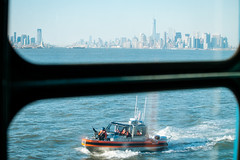 Staten Island Ferry (mathiaswasik) Tags: new york nyc usa window water ferry skyline river island boat us newjersey marine jerseycity ship unitedstates security transportation staten armed