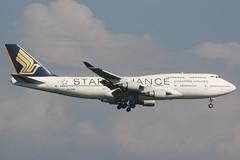 9V-SPP FRA 31-8-2011 (Plane Buddy) Tags: singapore frankfurt boeing fra 747400 staralliance eddf 9vspp