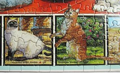 The World of Cats - detail views (Leonisha) Tags: detail cat chat puzzle katze jigsawpuzzle