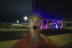 IMG_2392 (CassinStacy) Tags: street new city light people urban night mexico evening highway bokeh albuquerque freeway fe sante