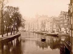 Amsterdam, (CardCollector & HobbyPhotographer) Tags: netherlands amsterdam ship albumenprint vintagephoto 1891 realphoto