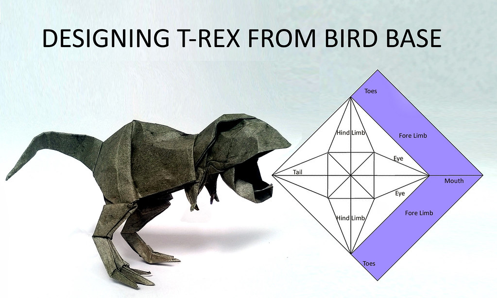 Designing A Tyrannosaurus Rex Leong Cheng Chit Tags Design Origami Trex