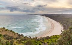 Tallow Beach from Cape Byron (russellstreet) Tags: cloud beach water australia newsouthwales byronbay capebyron tallowbeach