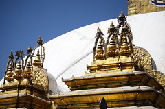 Golden Stupa (Jgunns91) Tags: travel nepal travelling religious temple nikon asia peace buddhism wanderlust explore discover natgeo swayumbhunath