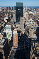 Prudential Center View (Seacoast Photography) Tags: city building boston skyline skyscraper massachusetts officebuilding offices windowart