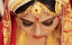 Bride Eye (Anamika) (Safaria Suhas) Tags: wedding red canon bride eyes pretty outdoor dhaka bangladesh suhas safaria