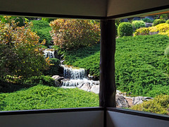View From the Teahouse (Kaptain Kobold) Tags: trip camping plants holiday building green architecture garden japanese waterfall view nsw teahouse cowra kaptainkobold