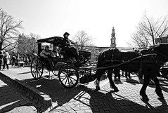 Coach (Jan Kranendonk) Tags: horse holland tower church dutch amsterdam coach europe paard westertoren westerkerk koets kerktoren koetsier