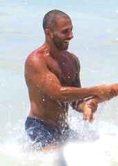 IMG_1198 (danimaniacs) Tags: shirtless man hot sexy guy beach smile beard muscle muscular trunks speedo swimsuit stud scruff