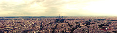 Colours of the Capital // Parisian Cityscape (MattCoulson) Tags: life old city light summer sky urban panorama orange sun paris france tower clouds point landscape nikon pretty cityscape view eiffel elgin amateur montparnasse focal
