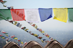 Flags With A View (Jgunns91) Tags: travel nepal travelling religious temple nikon asia peace buddhism wanderlust explore discover natgeo swayumbhunath