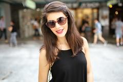Faces of Queensland - Joana (#250) (Stelex) Tags: street portrait girl female glasses pretty gorgeous longhair australia shades brisbane sunnies womain