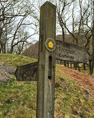 Cumbria Way Signpost (Marc Sayce) Tags: park lake way district national valley cumbria signpost grange borrowdale rosthwaite