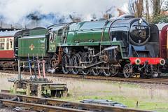 Lever Frame (4486Merlin) Tags: england europe leicestershire unitedkingdom transport steam railways loughborough midlands gbr greatcentralrailway heritagerailways 92214 exbr brstd9f2100 christmasholidaytrains