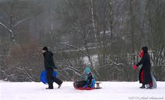 Winter (Natali Antonovich) Tags: christmas winter portrait snow frost belgium belgique belgie lifestyle together tradition sled sleding sledging lahulpe christmasholidays