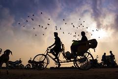 Marina, Chennai (Kals Pics) Tags: life morning people india weather silhouette sunrise pov perspective vehicles rickshaw marinabeach chennai tamilnadu roi santhome cwc singarachennai rootsofindia kalspics chennaiweelendclickers nochikuppam fabulouschennai
