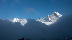 And the fog covers (Pooja Pant) Tags: nepal mountains beautiful trek abc annapurna annapurnabasecamp macchapuchre