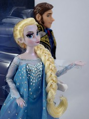 2015 DFDC Snow Queen Elsa and Hans Doll Set - Disney Store Purchase - Deboxing - Covers Off - Midrange Left Front View - Focus on Elsa (drj1828) Tags: frozen us hans prince purchase elsa disneystore snowqueen 2015 deboxing disneyfairytaledesignercollection