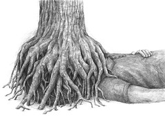 Stefan Zsaitsits — Wurzelsepp, 2015 | Pencil on paper | Art of Darkness Daily Art Blog | Stefan Zsaitsits — Wurzelsepp, 2015 // Drawing: Pencil on paper, 50 x 70 cm // via Art of Darkness: Daily Art Blog (ArtAppreciated) Tags: inspiration tree art face pencil painting weird darkness drawing contemporary surrealism fineart surreal daily blogs stefan shit trunk obscured subversive figurative symbolic dailydrawing anonymity drawingaday artblogs dailyart tumblr artoftheday artofdarkness eatsleepdraw zsaitsits artofdarknesscovo artappreciated artofdarknessco artofdarknessblog