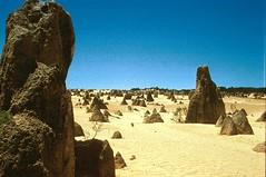 Pinnacle desert, Western Australia (GothPhil) Tags: 35mm landscape scenery december desert kodak australia scanned kodachrome cervantes westernaustralia 1990 asa200 pinnacles rockformation geological nambungnationalpark pinnacledesert