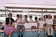 Disneyland parking lot tram, 1961 (Orange County Archives) Tags: california history disneyland disney historical 1960s southerncalifornia orangecounty anaheim orangecountyarchives orangecountyhistory