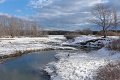 Tidal inlet at the Head of Maquoit Bay (smilla4) Tags: trees winter sky snow ice water clouds maine inlet marsh tidal reflecton maquoitbay