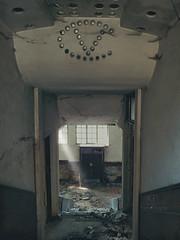 Glass eyes (JG - Instants of light) Tags: door house abandoned portugal stairs casa office decay destruction entrance forgotten porta entrada fujifilm escritrio escadas destruio urbex abandonado decadncia esquecido