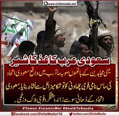 سعودی عرب کاغذ کا شیر #یمنی مجاہدین کے ہاتھوں صوبہ ماآرب میں واقع سعودی اتحاد کی ماس نامی فوجی چھاونی کو توشکا میزائل سے نشانہ بنایا۔ سعودی اتحاد کے ڈھائی سو سے زائد دہشتگرد فوجی #ہلاک و زخمی۔ #Yemen #IslamicWar #DeathToSaudia (ShiiteMedia) Tags: pakistan yemen و shiite عرب اتحاد سو واقع فوجی شیر کا سعودی سے کاغذ کو ماس کے کی shianews میں یمنی زائد صوبہ shiagenocide shiakilling نامی نشانہ ہاتھوں shiitemedia shiapakistan mediashiitenews ہلاک زخمی۔ دہشتگرد ڈھائی مجاہدین ماآرب چھاونی توشکا میزائل بنایا۔ islamicwar deathtosaudiashia