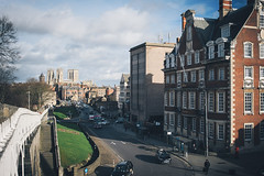 View Towards York Minster (Matthew-King) Tags: york city view down walls minster towards