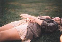 (Maria Pajakari) Tags: summer portrait film girl grass grain olympus solaris analogic