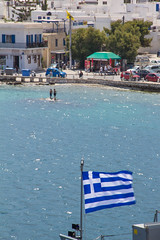 Wandering in the Aegean Sea (Ariadni's Thread) Tags: summer ship greece dreamy greekislands picturesque paros magnificent greekflag darkblue blueandwhite bluesea 2015 aegeansea deepbluesea aegeanislands travelbyship onthewaytogreekislands wanderingintheaegeansea