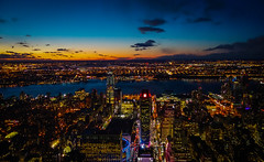 new york city at dusk (damianmkv) Tags: nyc cityscape hudsonriver empirestatebuilding newyorksunset