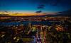 new york city at dusk (damianmkv) Tags: nyc cityscape hudsonriver empirestatebuilding newyorksunset