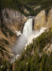 Yellowstone Lower Falls Alternate View (ebhenders) Tags: park snow ice north falls national yellowstone wyoming lower rim grandcanyonoftheyellowstone