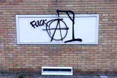 Anarchist (Michiel2005) Tags: holland netherlands graffiti leiden nederland anarchism anarchisme gallow galg a ⓐ