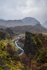 rsmrk in autumn colors (danielfj91) Tags: nature water rain fog river iceland cloudy hiking rsmrk atumn thorsmork