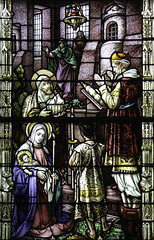 Presentation of the Lord (Lawrence OP) Tags: columbus anna candle stjoseph stainedglass oh priest stpatricks simeon biblical doves jesuschrist ourlady blessedvirginmary candlemas presentationofthelord