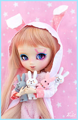 Pink bunny girl  (Suki) Tags: pink cute bunny sweet pullip pullips pullipcustom yuzuchan