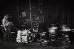 Bangkok (siebe ) Tags: street people blackandwhite bw food man cooking monochrome shop thailand photography blackwhite bangkok cook streetphotography photojournalism documentary thai streetphoto soi 2016     siebebaardafotografie