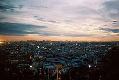 View from Sacre-Cur, Paris (Alien Light Beam) Tags: winter paris france mamiya film colors architecture europe kodak outdoor experience medium format portra f28 45mm 80mm photovision afd645