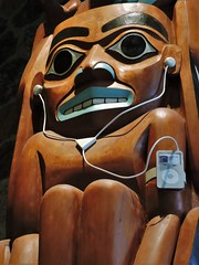 Detail of Where Cultures Meet (Will S.) Tags: ontario canada art gallery technology ipod artgallery laptop cellphone canadian totempole trunks emilycarr mypics 2009 kleinburg aboriginalart canadiana groupofseven tomthomson mcmichael mcmichaelcanadianartcollection mcmichaelgallery